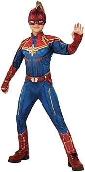 Rubie's Store Girls Captain Marvel Hero Suit Deluxe Superhero Costume