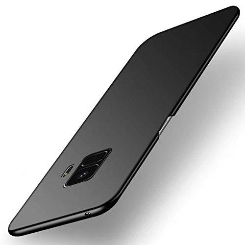 Tianqin Funda Samsung Galaxy S9 Plus, Ultra-Delgado Carcasa Protectora Ultra Ligera PC Plástico Duro Case Anti-Rasguños Parachoque Estilo Simple para Samsung Galaxy S9 Plus Estuche - Negro
