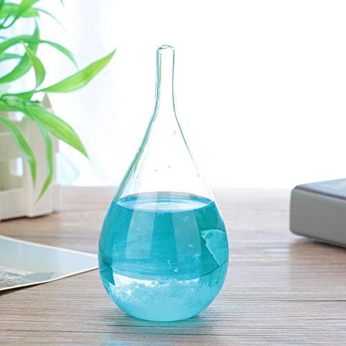 01 Vidrio práctico y Duradero, Vidrio Que predice el Clima, Oficina de Restaurante Transparente para cafetería casera(Blue Without Base)