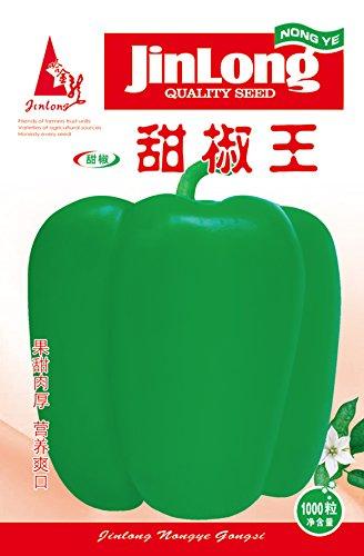Paquet original 1000pcs Poivron, importés de la Corée au poivre vert, graines de légumes Jardin Bricolage Plante en pot Livraison gratuite