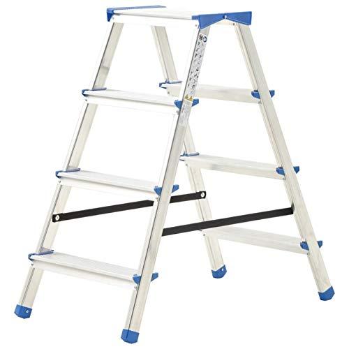 pedkit Escalera Plegable Escalera Multifuncional Escalera de Aluminio Doble Cara 4 peldaños...