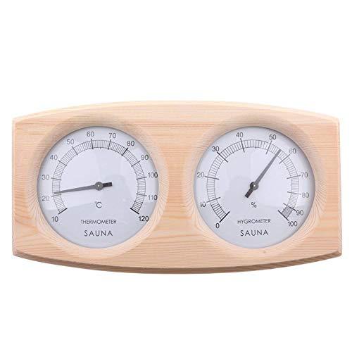 smileyshy Saunathermometer, 20-140 ° Holzsaunathermometer Hygrometer Thermometer Sauna
