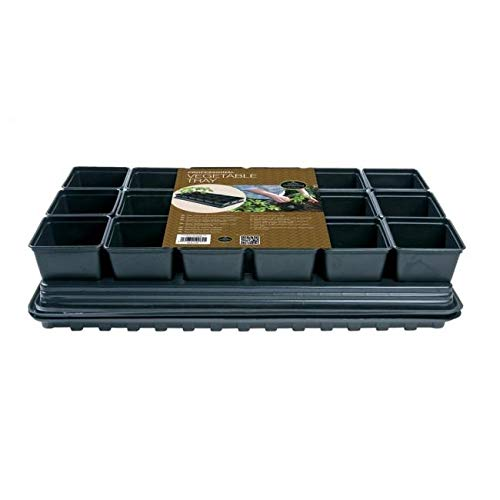 Garland Products Limited Professional Vegetable Tray Set 18 x 9cm Sq Pots Tray Water Tray & Cap Mat