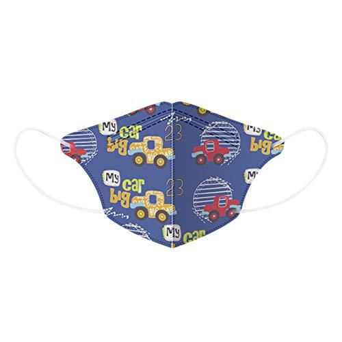 Paquete De 10 𝙢𝙖𝙨𝙘𝙖𝙧𝙞𝙡𝙡𝙖 para Bebés para Niños De 4 a 12 Años, 4 Capas De Dibujos Animados, Transpirables con Bucle Cómodo para La Oreja