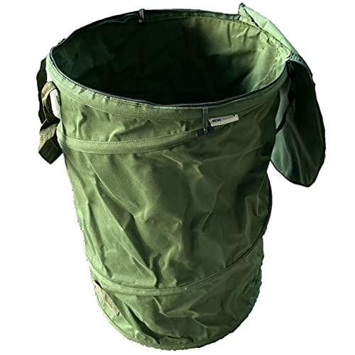 BENZ Garden®  NEUHEIT 2021  Pop-Up Gartensack mit Deckel 120 Liter - Selbstaufstellend - Gartentasche aus extrem robustem Leinengewebe - langlebiger Laubsack - Gartenabfallsäcke