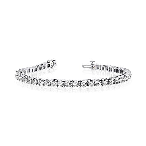 14k Weißgold 6 Ct. Classic Diamant Tennis Armband 6 ct