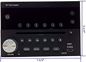 iRV Technology IRV31 Am/FM/CD/DVD Rv Radio Stereo 2 Zones Wallmount Receiver 2.1 Channels Surround, 5