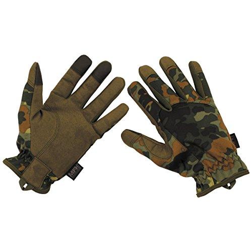 MFH Tactical Fingerhandschuhe Lightweight Touchscreenfähig (Flecktarn/M)