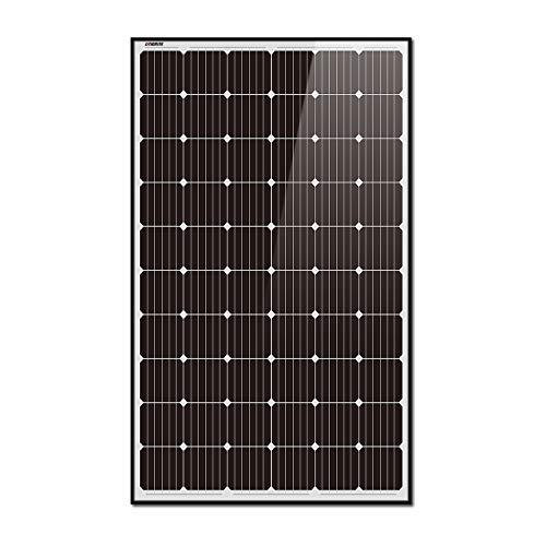 Litionite Rayo 300W Pannello Solare Monocristallino in vetro temperato con struttura in alluminio nero ideale per creare un impianto solare fai da te Off Grid/On Grid/Powerwall/Casa/Azienda