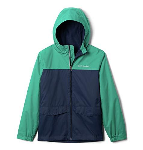 Columbia Boys' Big Rain-Zilla Jacket, Collegiate Navy/Emerald Green, X-Large