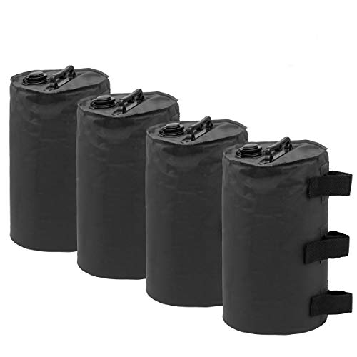 Anavim Canopy Water Weights Bag, Leg Weights for Pop up Canopy 4pcs-Pack Black