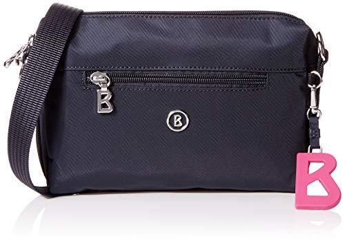 Bogner Damen Verbier Pukie Shoulderbag Shz Schultertasche, Blau (Darkblue), 4x15x22 cm