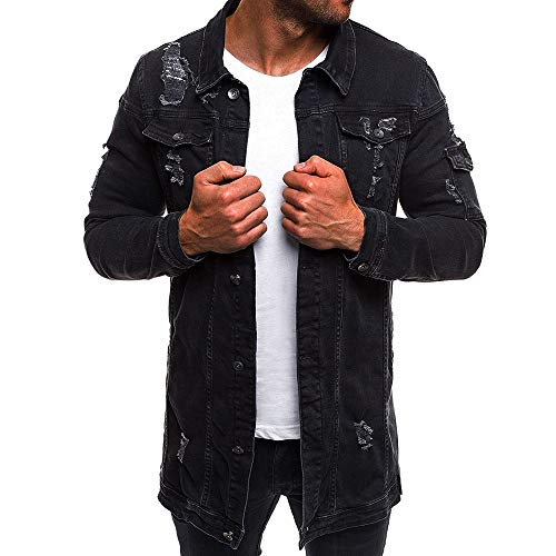 Homebaby Giacca Classica di Jeans da Uomo Denim Sportivo Felpe Addensare Caldo Impermeabile Giubbini Manica Lunga Camicia Elegante Maglia Autunno Inverno Abbigliamento