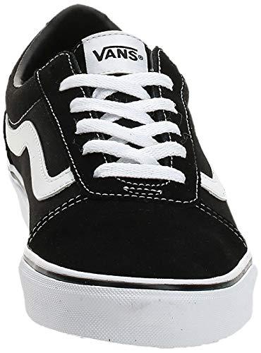 Vans Ward - Zapatillas para Mujer, Negro (Suede/Canvas/Black/White Iju), 41 EU
