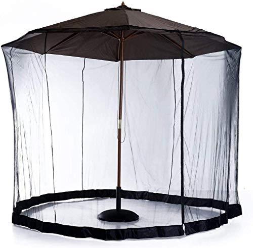 Paraguas al Aire Libre 8 / Pantalla 10FT Sombrilla for el Patio, con Cierre de Cremallera de la Puerta y Malla de poliéster Red, Altura y diámetro Ajustable (Color: 275 * 230cm) ZDWN