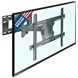 "39 in flat screen - ONKRON TV Wall Mount Bracket Full Motion Articulating Long Arm for 39"" – 60 Inch LED LCD Plasma Flat Screen TV with Tilt Swivel 150 LBS Loading Capacity M7L"
