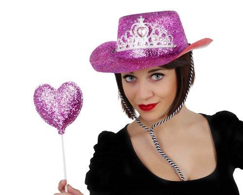 Atosa 8422259157366 – Set Chapeau Cowgirl en PVC avec Baguette