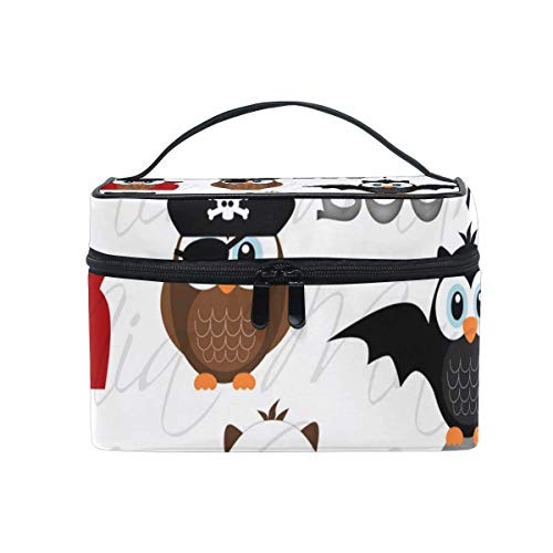 Trousse de maquillage Halloween Cute Eagle Cosmetic Bag Portable Large Toiletry Bag for Women/Girls Travel