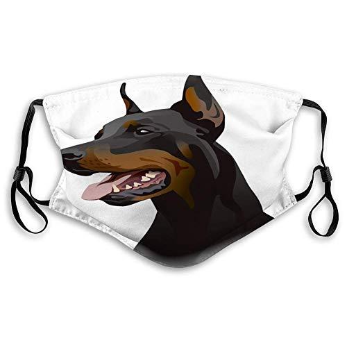 Escudo bucal Transpirable para Hombres y Mujeres con Orejeras Ajustables Escudo Littlnisex para Perros Doberman
