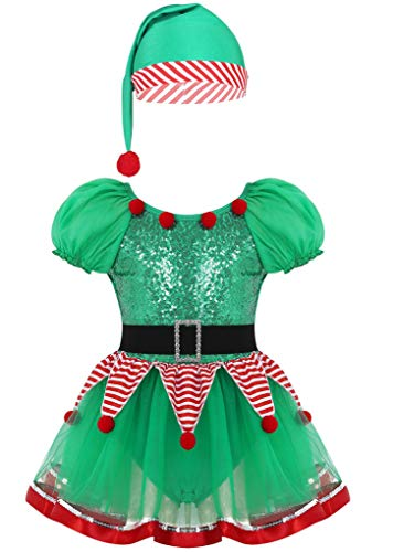 CHICTRY Kids Little Girls Sequin Tutu Christmas...