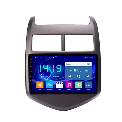 Dscam Coche navegación System Android 9.1 para Chevrolet Aveo Sonic 2011-2013 Cuatro nucleos 9' HD Pantalla táctil In Dash Car con GPS Sat Nav USB FM 4.0 Bluetooth WiFi USB