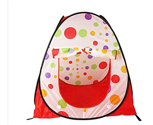 PrittUHU Grandes niños Plegables portátiles para niños Pop Up Aventura Océano Bola Play Tent Indoor Outdoor Playhouse Kids Tienda (Color : R)