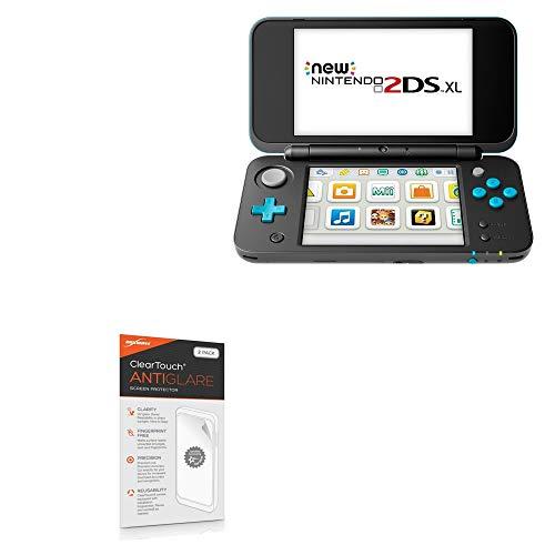 Protetor de tela Nintendo 2DS XL, BoxWave [ClearTouch antirreflexo (pacote com 2)] Película fosca anti-impressão digital para Nintendo New 3DS XL | Switch Lite | Nintendo 2DS XL