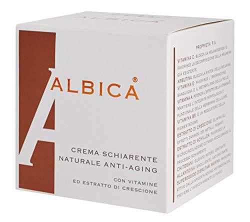 ALBICA Crema aclarante y antimanchas con vitamina C, arbutina, vitamina E, vitamina A, vitamina B5, berros, milenrama, superoxode dismutasa (SOD) tarro 30 ml