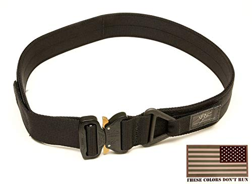 Read About Viking Tactics VTAC Cobra Riggers Belt - Includes 3x5 Reversed American Flag Decal (Black...