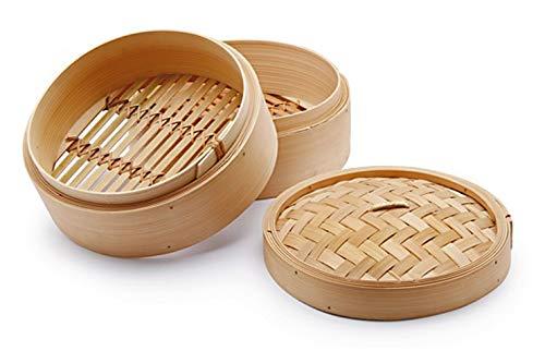 Chio Dampfkocher, Bambus, Beige, 23 cm, 3 Stück