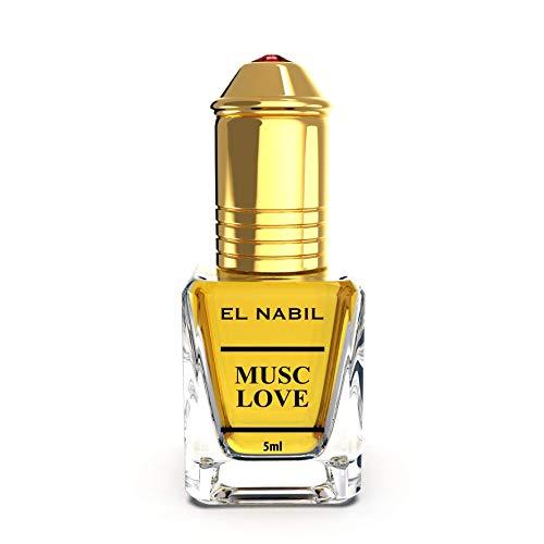 Musc Love 5ml Parfum Duft - El Nabil Misk Musk Moschus Parfümöl für HERREN & DAMEN - Ätherische Essenzen Natur Perfume Oil Attar Scent