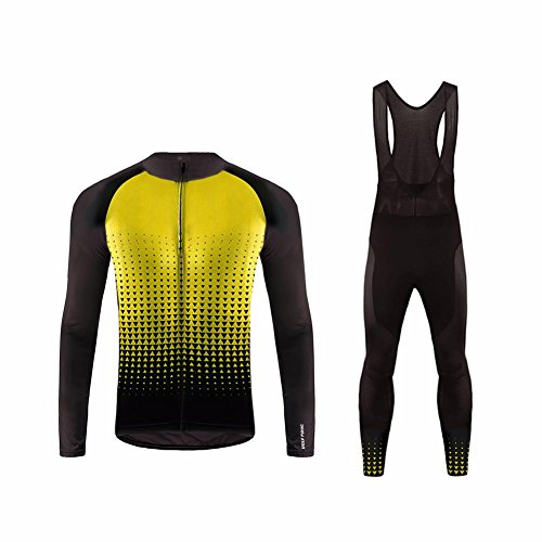 Uglyfrog #02 2017 Nuevo De Invierno Mantener caliente Manga Larga Maillot Ciclismo Hombre Bodies +Long Bib Pant with Gel Pad Winter Style
