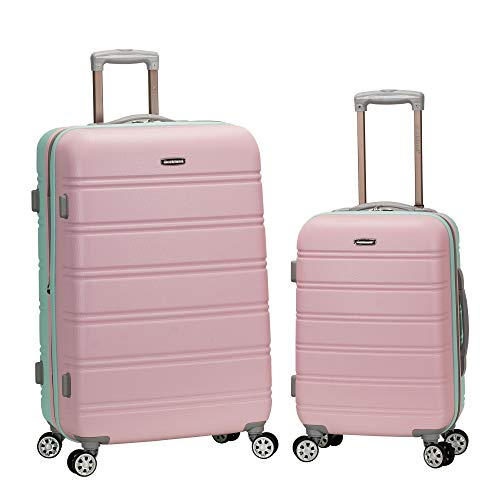 Rockland Melbourne Hardside Expandable Spinner Wheel Luggage, Mint, 2-Piece Set (20/28)