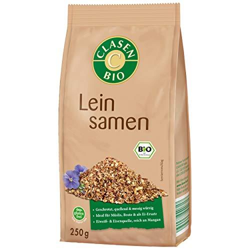 CLASEN BIO Leinsamen geschrotet, glutenfrei und vegan - 250 g