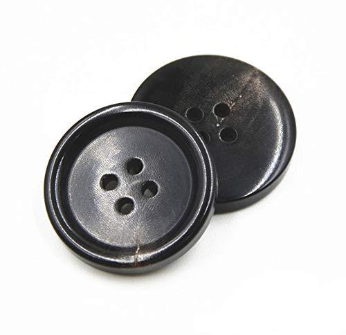 cappotto uomo 4 bottoni 10PCS Bottoni di Vestiti - Moda Corno Cucire Pulsante 4 Fori a Forma di Pulsante con Pulsante Set per Uomo donna Maglioni