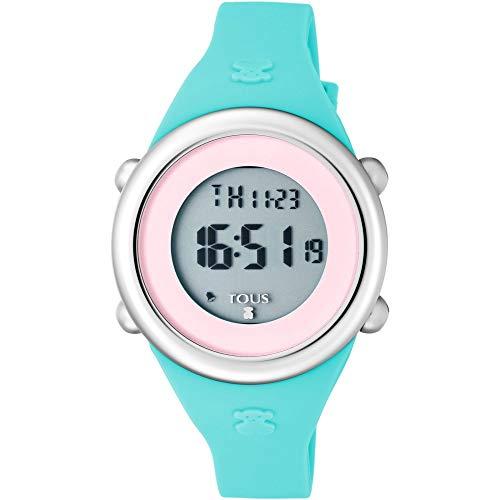 Reloj Tous para niña Soft Digital en Silicona Azul y Pantalla Rosa, Ref. 800350620.