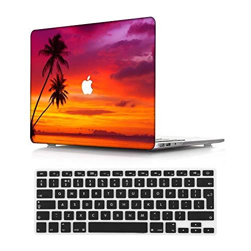NEWCENT MacBook Pro 13' Funda,Plástico Ultra Delgado Ligero Cáscara Cubierta EU Teclado Cubierta para MacBook Pro 13 Pulgadas con Touch Bar Touch ID(Modelo:A1708/A1706/A1989/A2159),Paisaje A 78