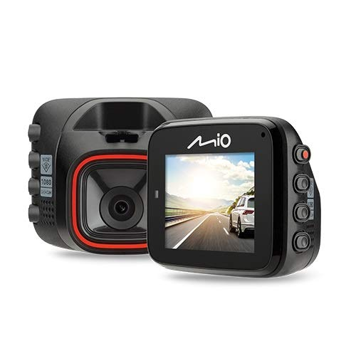 Mio MiVue C312 Mounted Mini Car Security Dash Camera with 2M Sensor 1080p Full HD Recording, 130° Wide-Angle Lens - Auto Power On Plus G-Sensor for Emergency Backup - Record in Low-Light Conditions