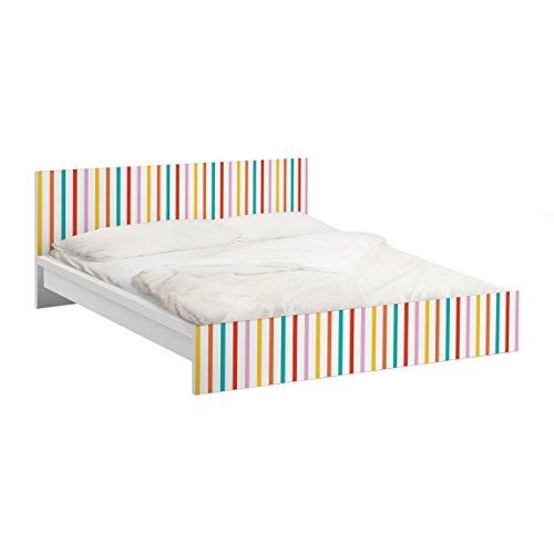 Apalis Vinilo Adhesivo para Muebles IKEA - Malm Bed Low 140x200cm No.UL750 Stripes, Größe:77cm x 157cm