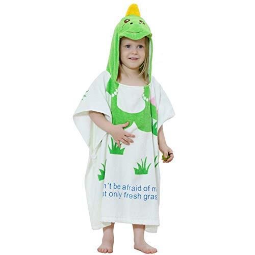 Kinderen zwemmen poncho handdoek strand met capuchon badhanddoek voor unisex kinderen baby schattig cartoon-patroon bio-katoen super waterabsorberend neopreenpak badkleding veranderen handdoek stran