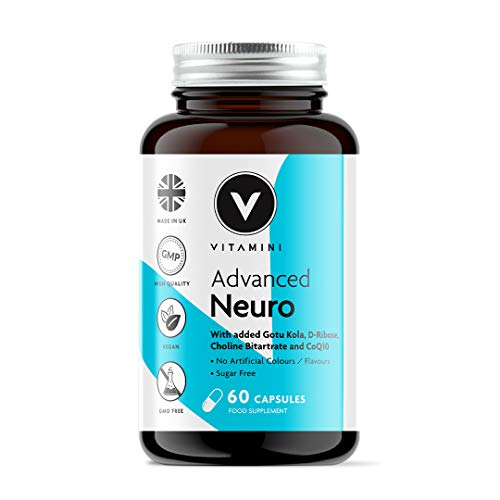 Advanced Neuro Tablets, for Stressful Periods & Improved Mental Clarity - 60 Day Supply