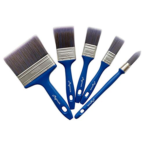 Magimate Paint Brush Set, Professional Painting Brushes with an Elegance Tapered Trim Brush for Walls, Cabinets Pack of 5
