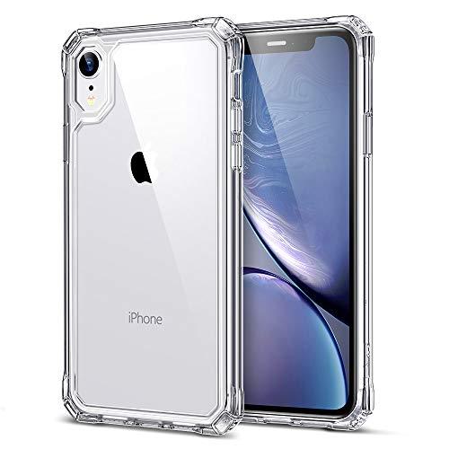 """ESR Axiom Klarhülle kompatibel mit 6,1"""" iPhone XR Hülle - Kratzfeste, stoßabsorbierende Hart-PC Rückseite [verstärkter Fallschutz] + Weicher TPU Rahmen - Klar"""