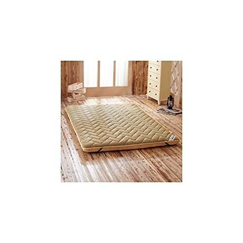 Japón Tatami Suelo Futón Colchón, Plegable Respirable Cómodo Colchón Sleeping Pad Almohadilla Topper Alfombrilla De Tatami para Invitados Camping Viaje-Camello-100 * 200cm(39 * 79in)