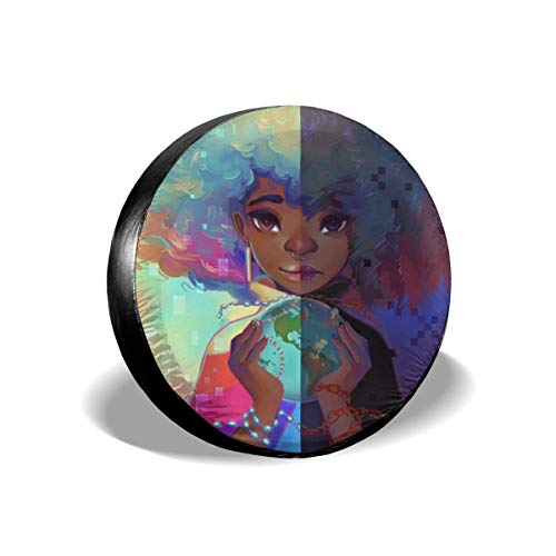Drew Tours Chica Personalizada Bola de Tierra de Cristal mágico Pintura Cubierta de neumático de Repuesto Protectores de Rueda tamaño 15 Pulgadas
