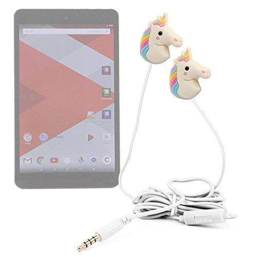 DURAGADGET Auriculares estéreo con diseño de Unicornio Arcoiris para Tablet Haier Cdiscount Cdisplay, Notebook W1165P, Notebook W1225P, Pad 782, Pad 971, Pad S1001, Pad W203, Pad W800
