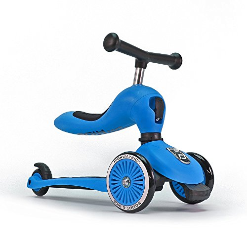 Scoot And Ride Bambini Highwaykick 1 Scooter e Ride on Toy, Bambino, HWK1-BLUE, Blue, Taglia Unica