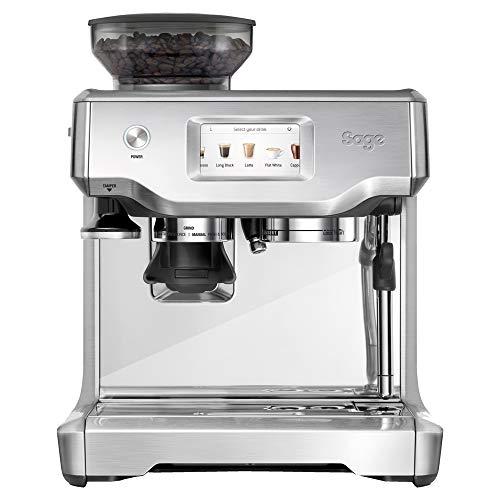 Sage SES880BSS the Barista Touch Semi Automatic Espresso Machine, 1700 W