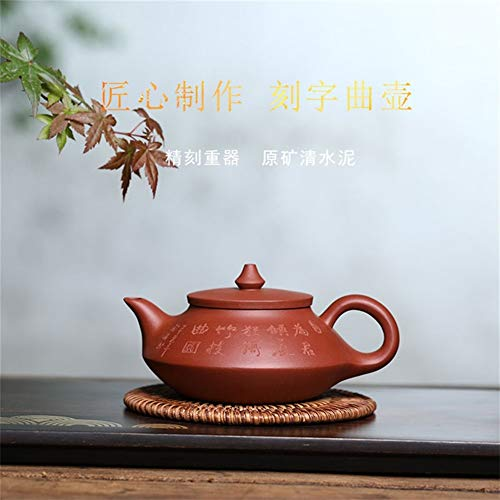 LEIJUNXU Notable Cemento Saco Taza de té de la Tetera canción Mano Mineral de la Tetera Charming China Zisha (Color : Red)