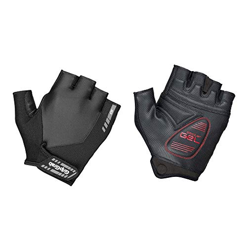 GripGrab ProGel Gepolsterter Kurzfinger Handschuh, Schwarz (Black), M